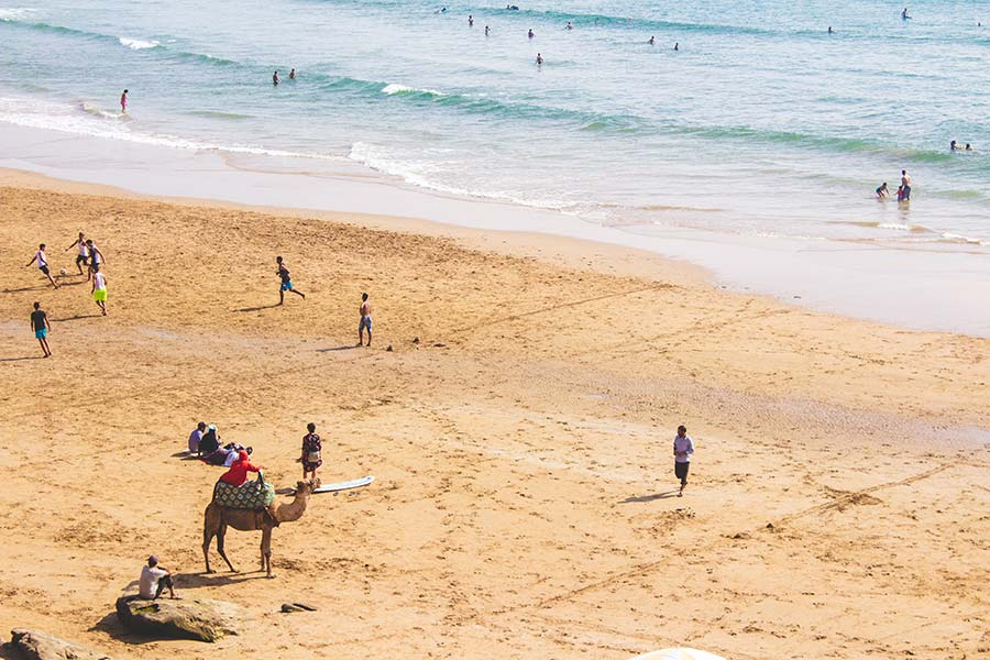 Beaches-in-Morocco-Taghazout-beach-agadir