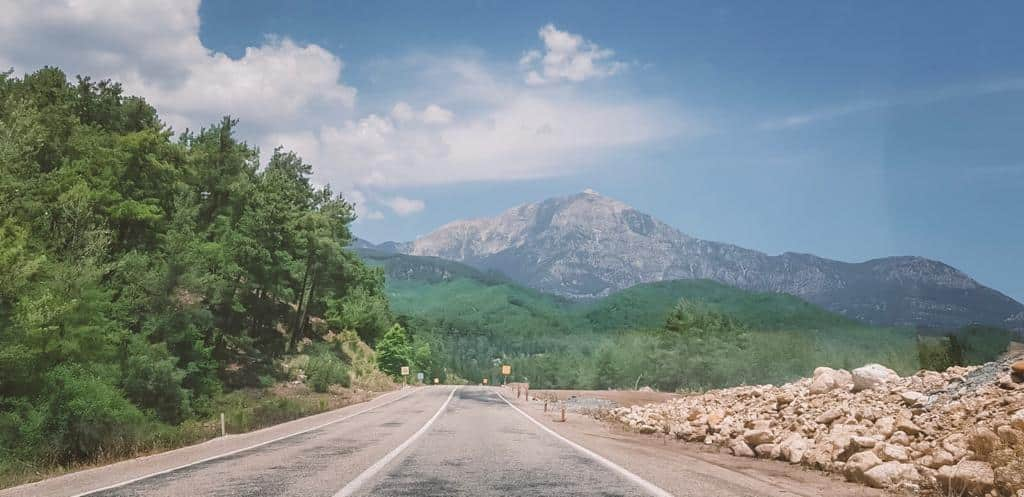 The roads to kas, Turkey trees and mountains