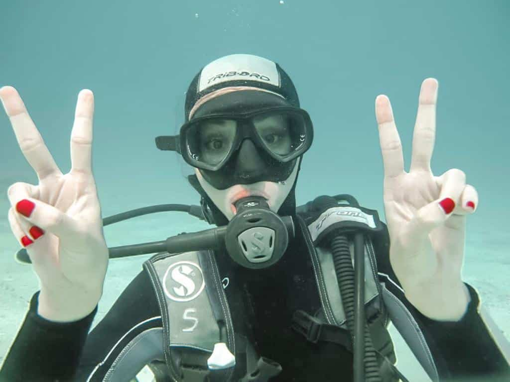 fay from capetocasa diving experience in kas- antalya to kas road trip