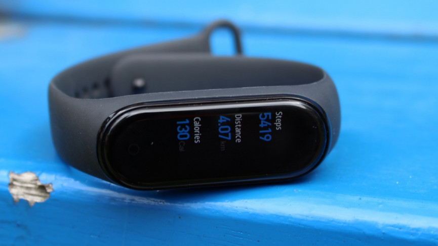 Mi Band 5 smart watch running interface