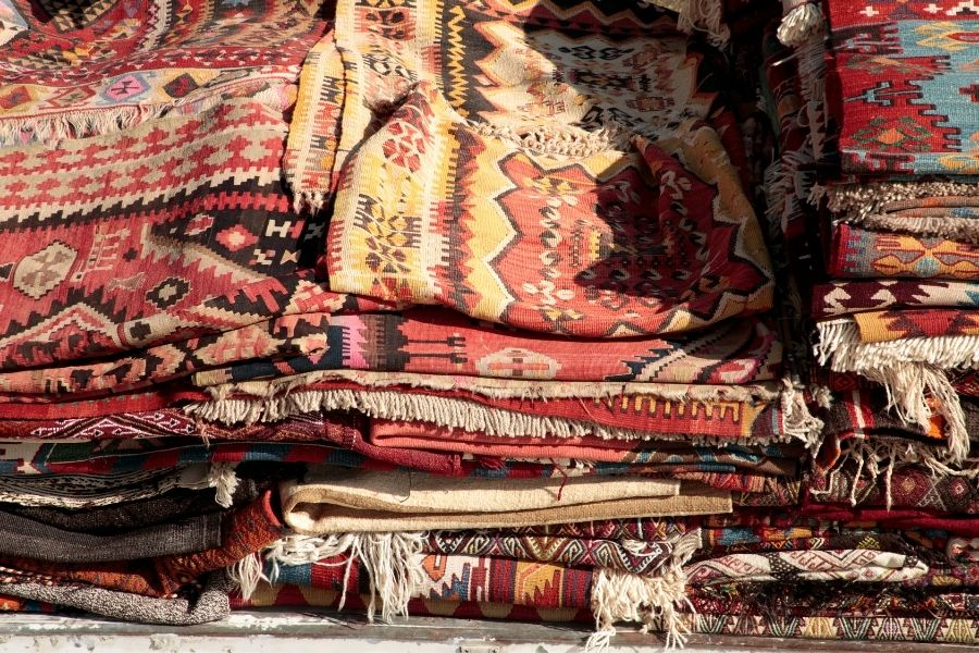 Turkish souvenirs rugs from Turkey