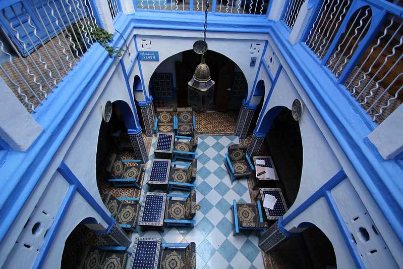 A hostel in chefchaouen city, Morocco