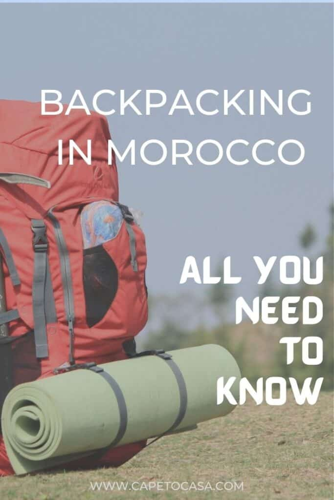 Backpacking in Morocco pin
