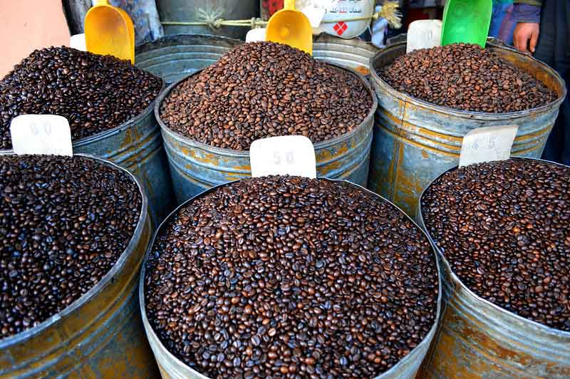coffee-beans-sold-in-Marrakech