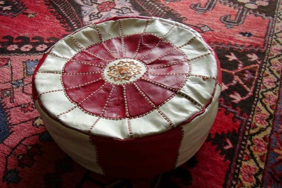 moroccan poufs souvenirs from Morocco