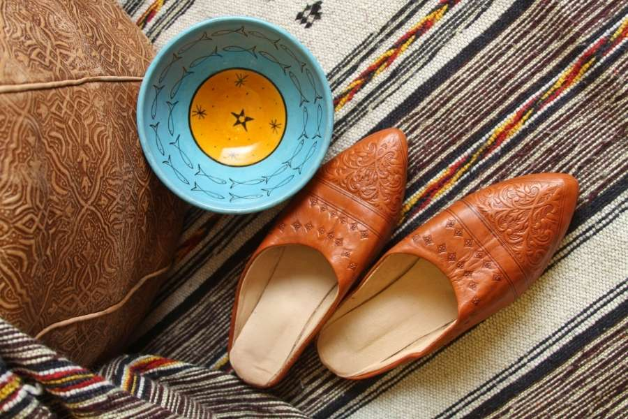 souvenirs from Morocco-moroccan babouche slippers