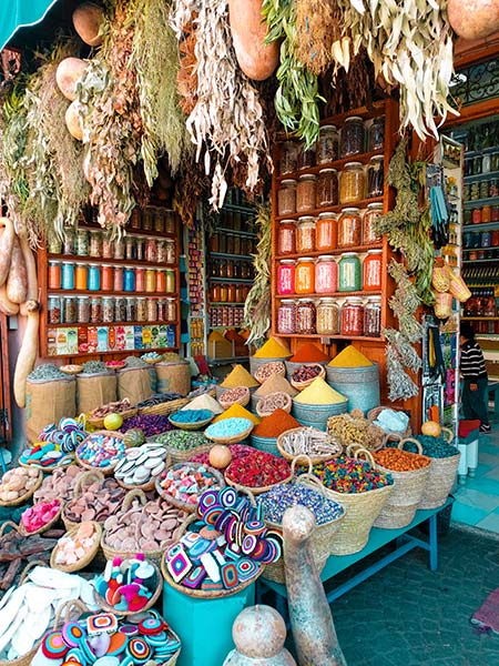 gifts from morocco: Moroccan spices and dried herbs