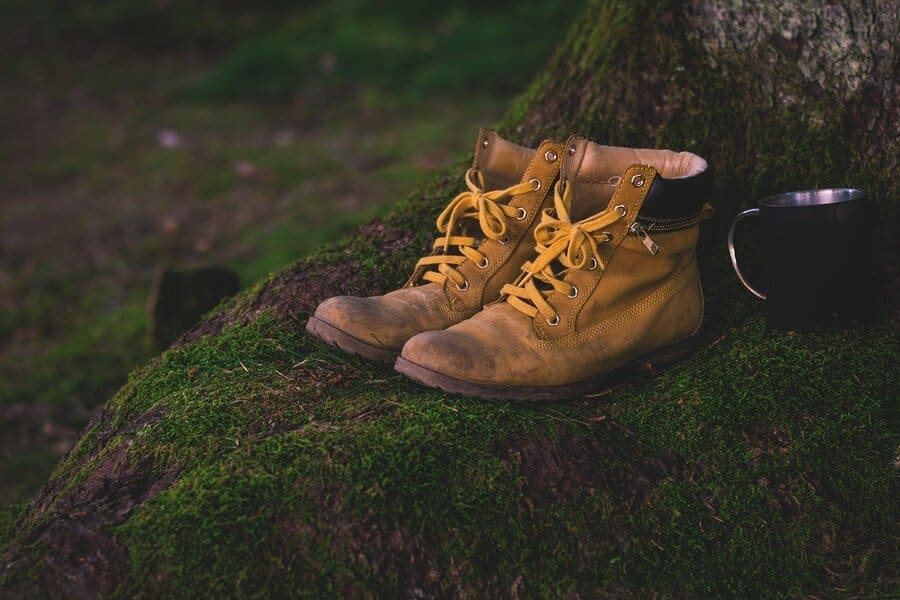 Backpacking essential items- hiking boots