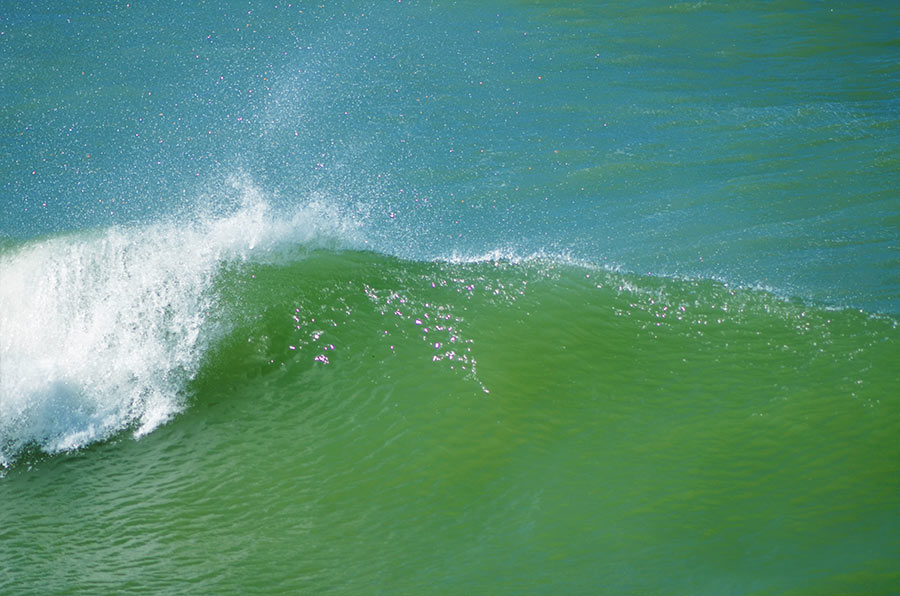 strong waves in Dakhla beach Morocco