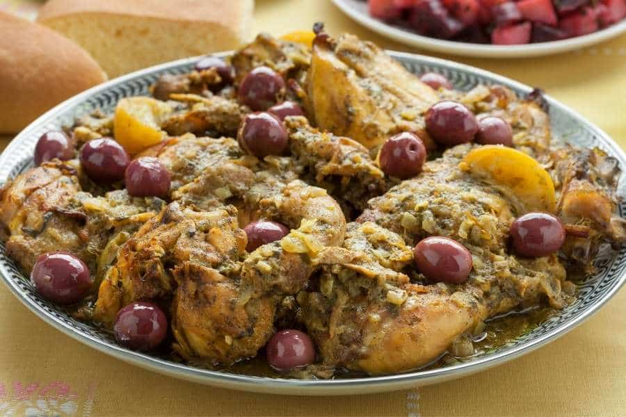 food in morocco chicken with preserved lemon