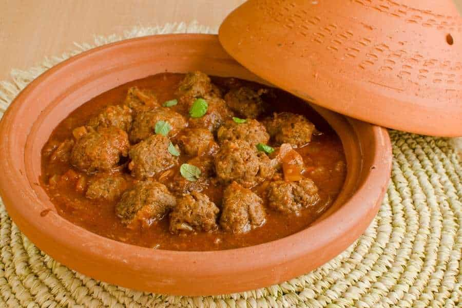 food in morocco meatball tagine