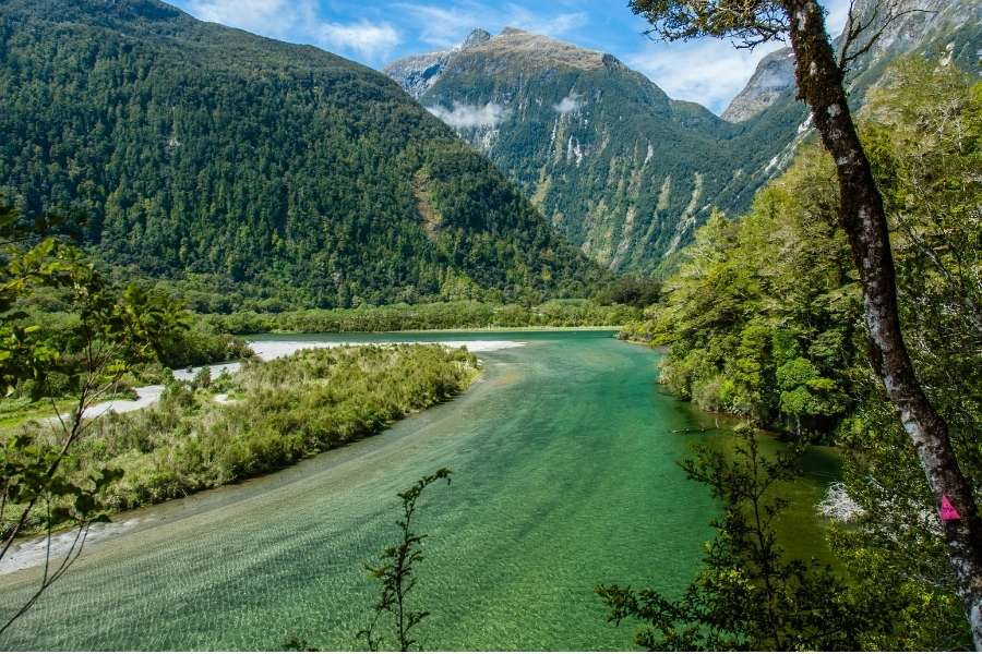 best hiking trails in the world Milford Track, New Zealand